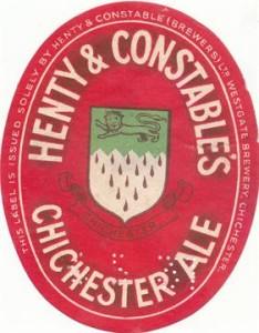 Henty beer label