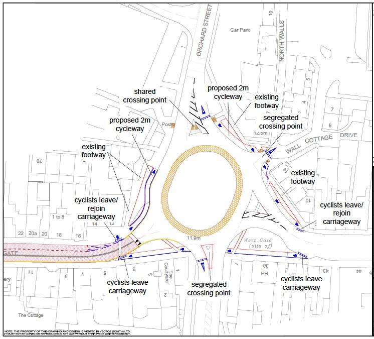 Ave de Chartres roundabout cycle improvements