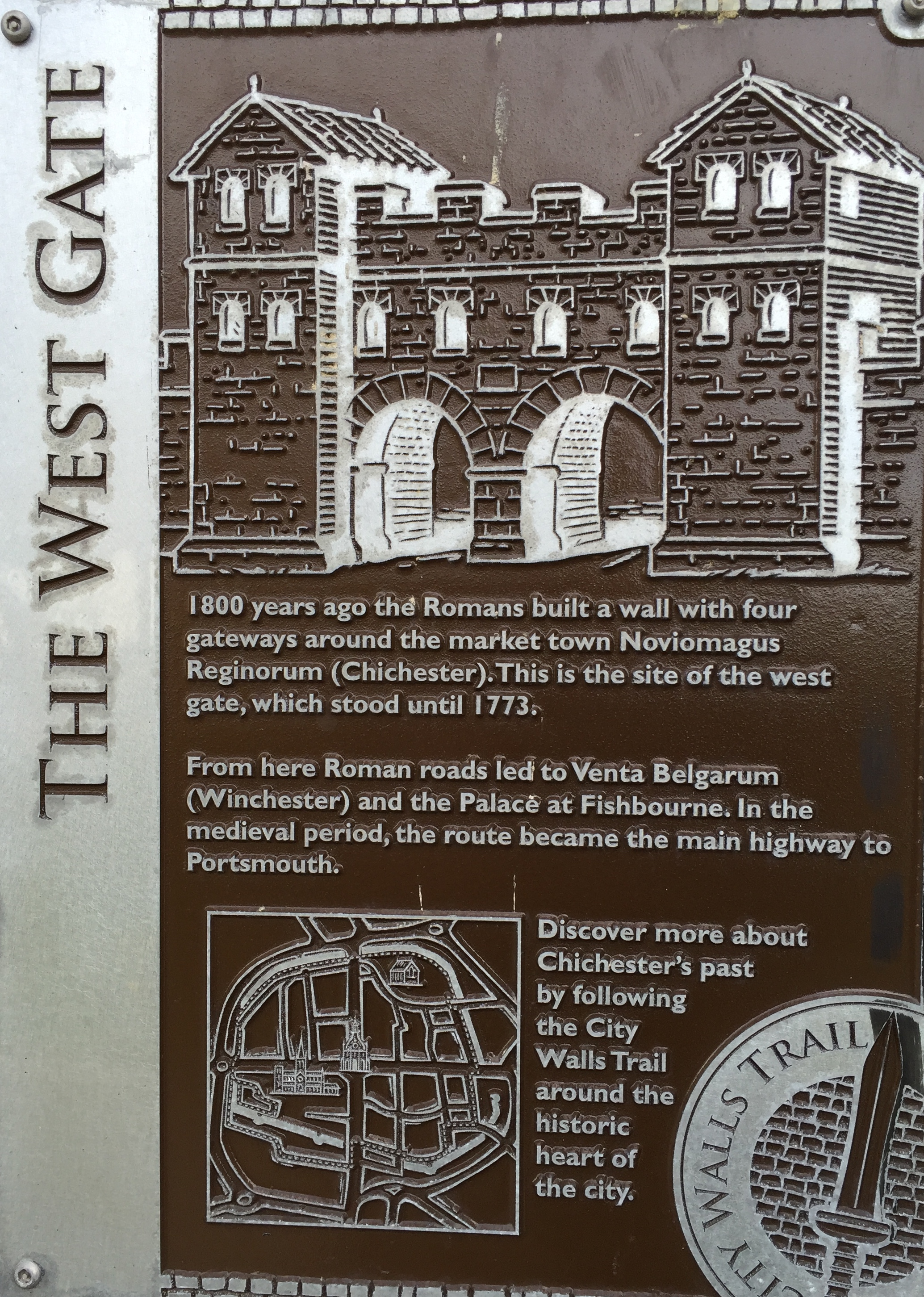 CDC Plaque, City Walls Walk
