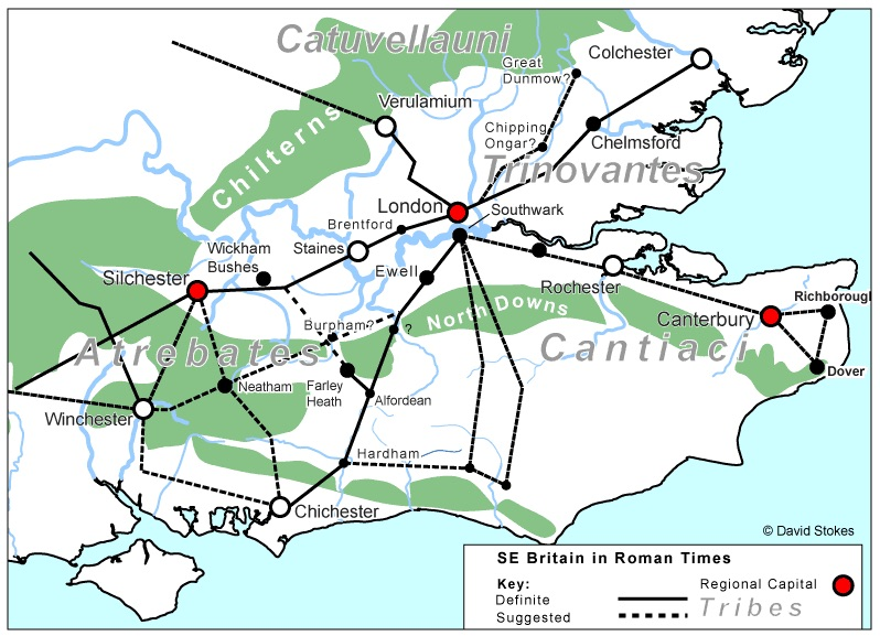 SE map of Roman Roads 2007