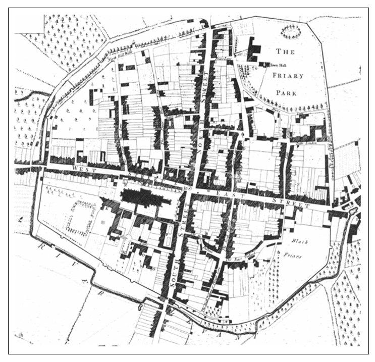Chi Town map Wm Gardner 1769