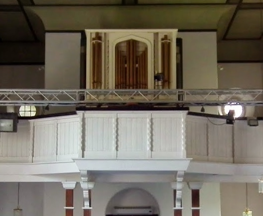 The Bates 1832 pipe organ in St Bartholomew's Church in Mount Lane