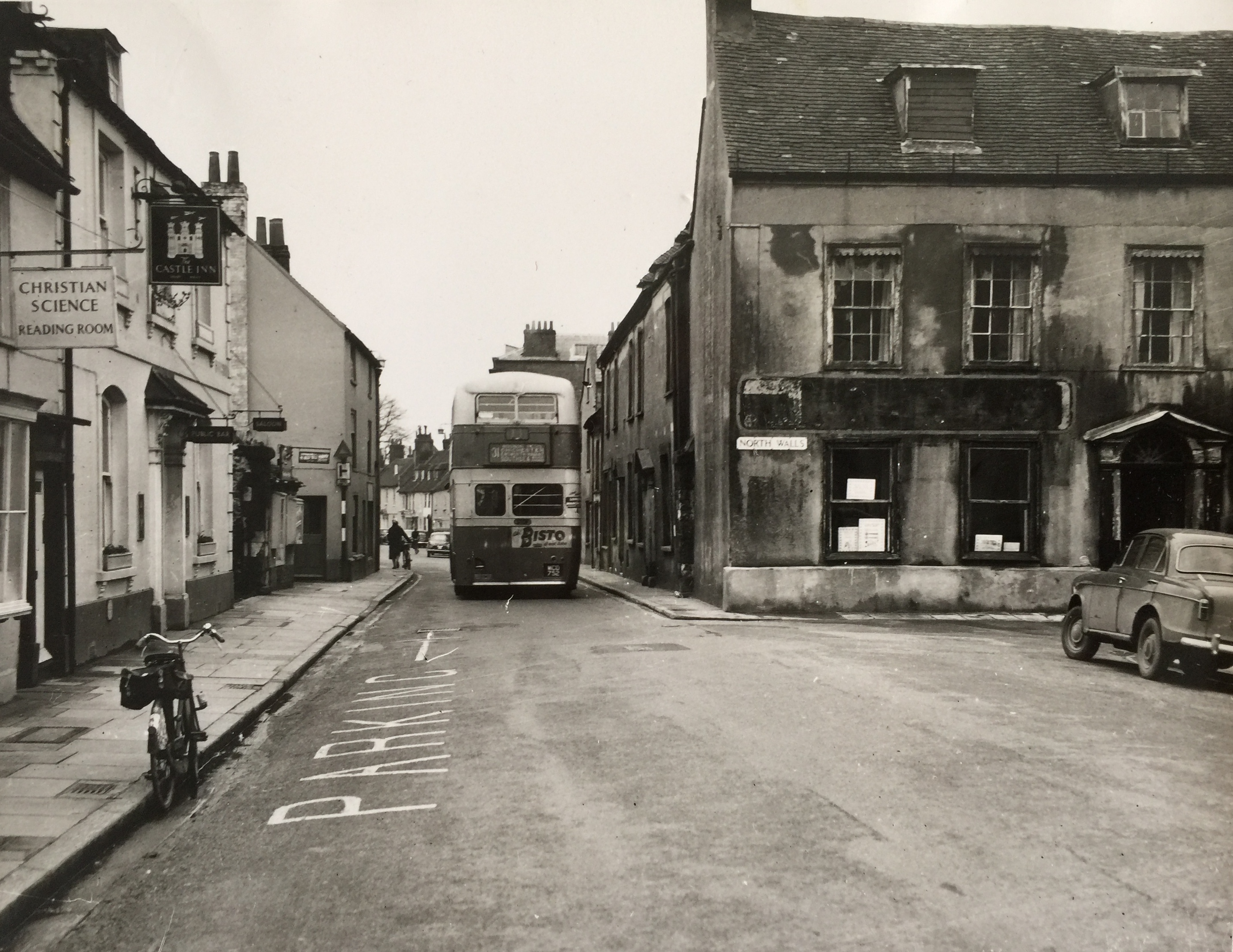 The Famous Westgate pinch point looking towards Westgate 1961 - Collection Ken Green