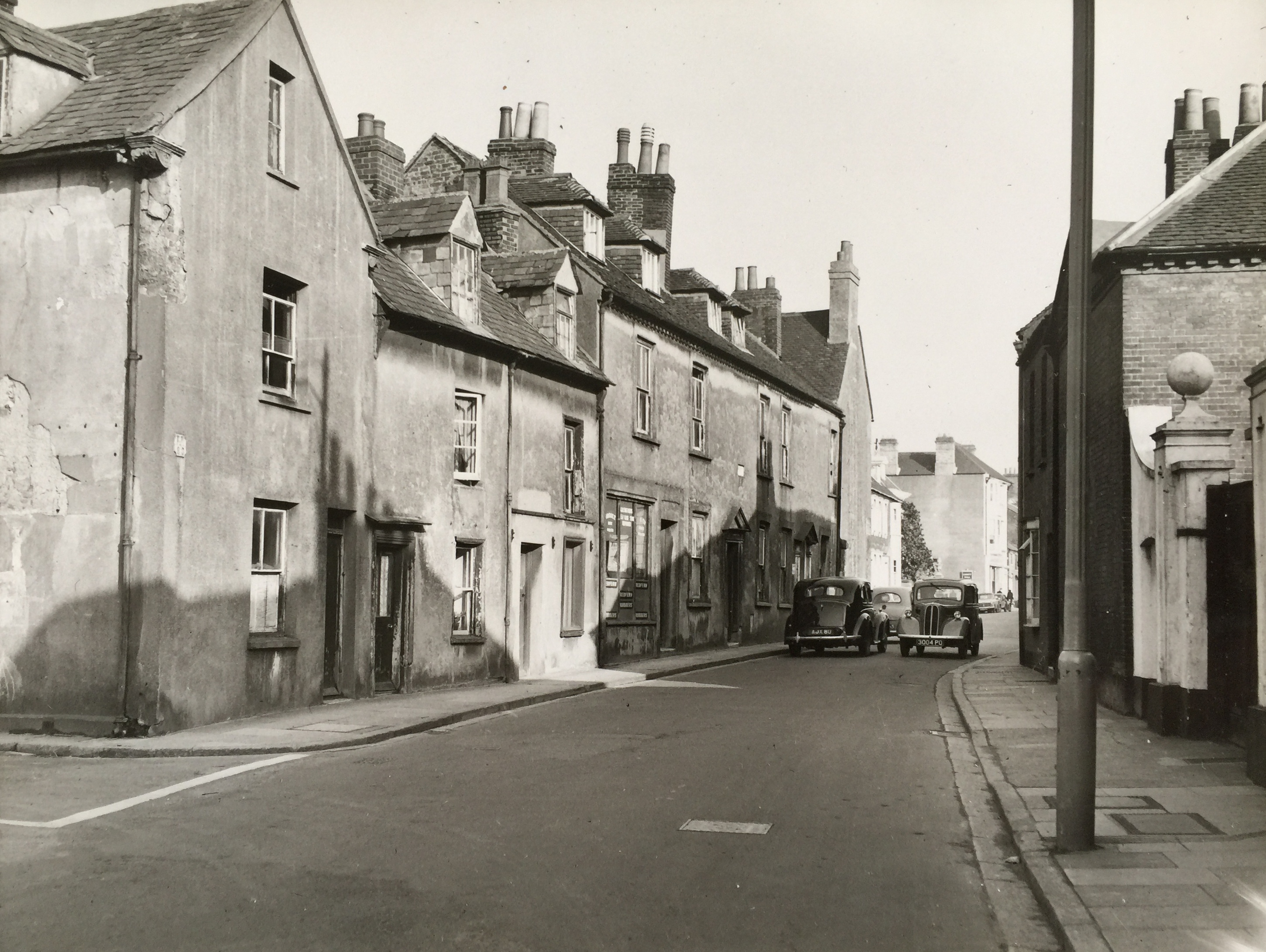 The famous Westgate pinch point looking towards West Street 1961 - Collection Ken Green