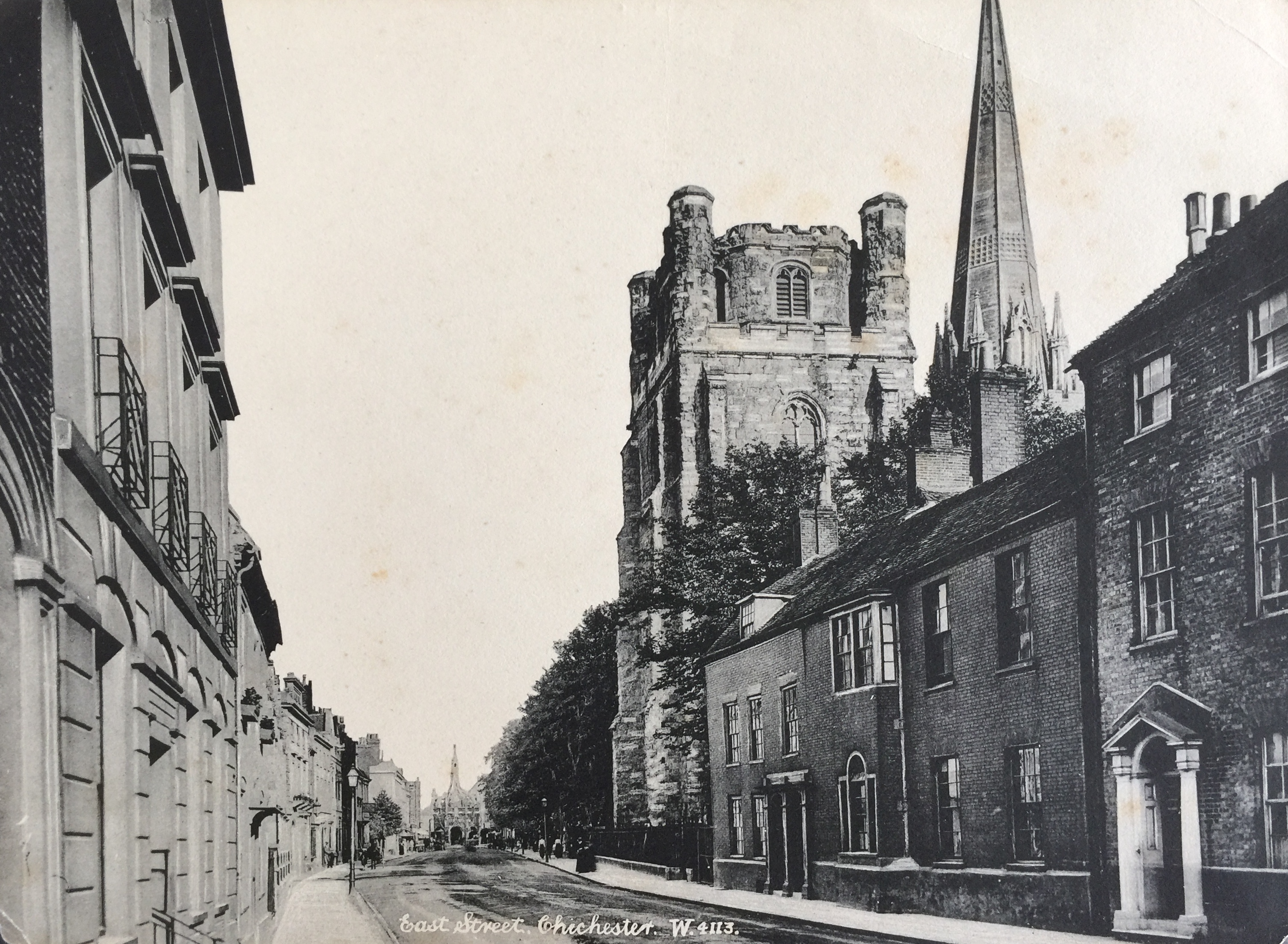 West Street, Chichester (in spite of the caption!) early C20? - Collection Ken Green