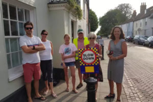 Residents undertaking Speed Watch training