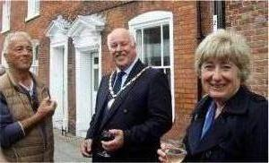 Colin Hicks with Margaret EvansCounty Councillor for Chichester south) and the Deputy Mayor