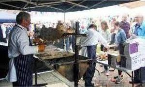 Serving the Hog roast